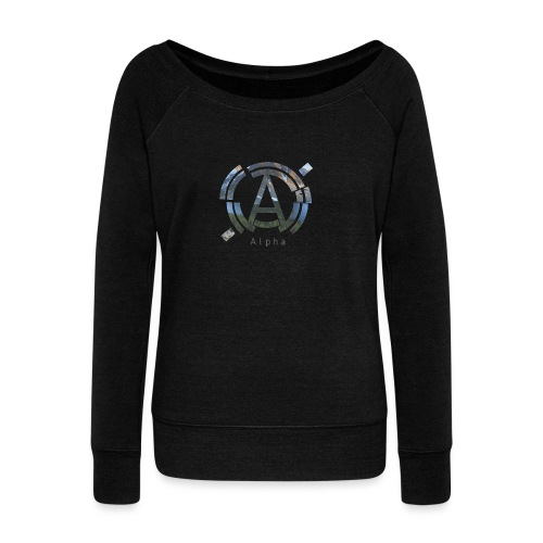 AlphaOfficial Logo T-Shirt - Women's Boat Neck Long Sleeve Top