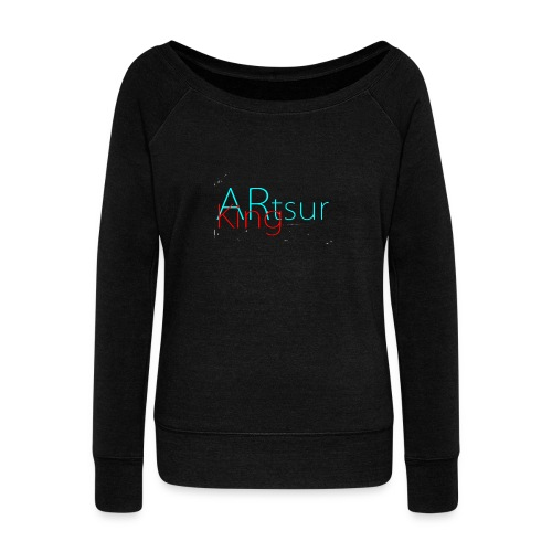 ARtsurKing Logo - Women's Boat Neck Long Sleeve Top