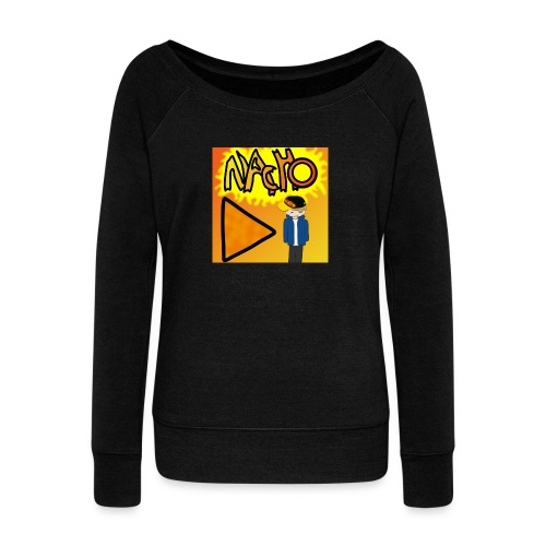 Nacho Title with Little guy - Women's Boat Neck Long Sleeve Top