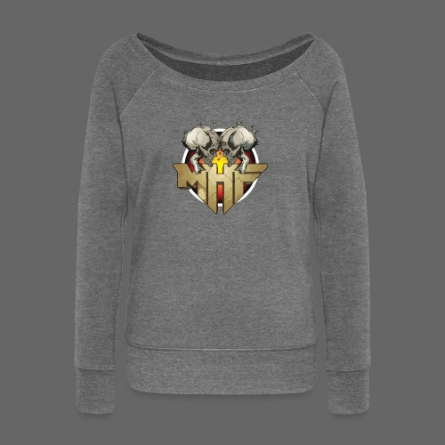 new mhf logo - Women's Boat Neck Long Sleeve Top