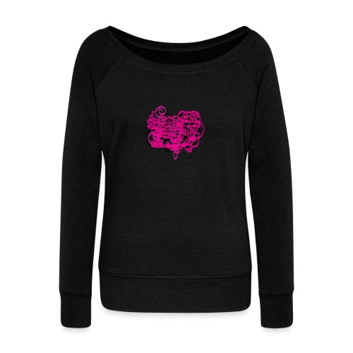 delicious pink - Women's Boat Neck Long Sleeve Top