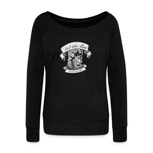 Lost like Alice, Mad like the Hatter - Women's Boat Neck Long Sleeve Top