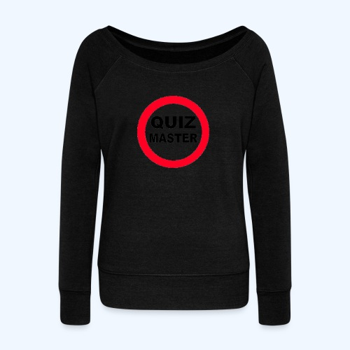 Quiz Master Stop Sign - Women's Boat Neck Long Sleeve Top