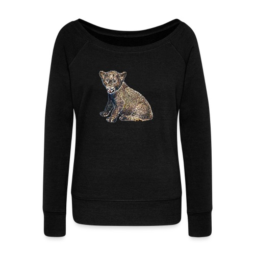 Lil Lion - Women's Boat Neck Long Sleeve Top