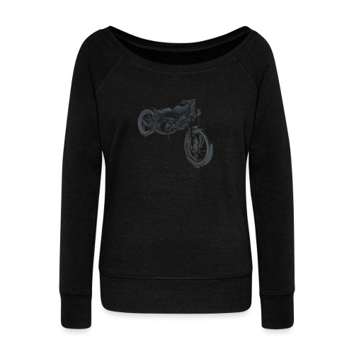bike (Vio) - Women's Boat Neck Long Sleeve Top