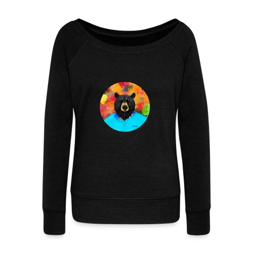 Bear Necessities - Women's Boat Neck Long Sleeve Top