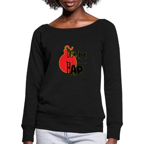 Boom Bap - Women's Boat Neck Long Sleeve Top