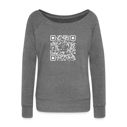 QR The New Internet Should not Be Blockchain Based W - Women's Boat Neck Long Sleeve Top