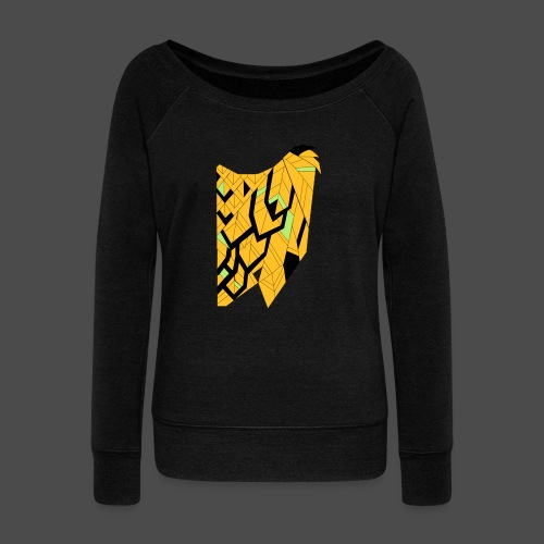 Owl Colour Redraw - Women's Boat Neck Long Sleeve Top