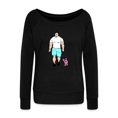 It's a poodle's job! - Women's Boat Neck Long Sleeve Top