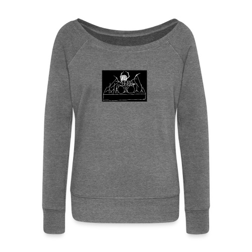 Drummer - Women's Boat Neck Long Sleeve Top