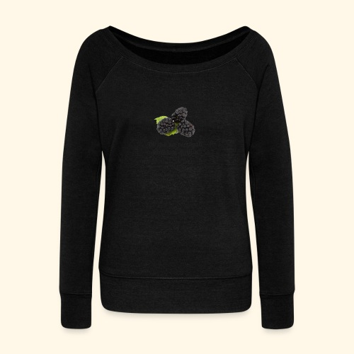 Picking blackberries - Women's Boat Neck Long Sleeve Top