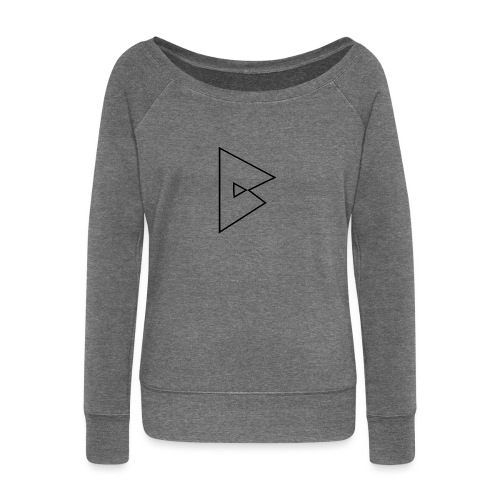 dstrbng official logo - Women's Boat Neck Long Sleeve Top