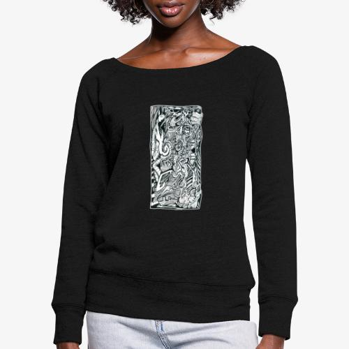 Anxiety Trip - Women's Boat Neck Long Sleeve Top