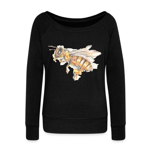 MG002 Bee | Honey | Save the Bees | Books bee - Women's Boat Neck Long Sleeve Top