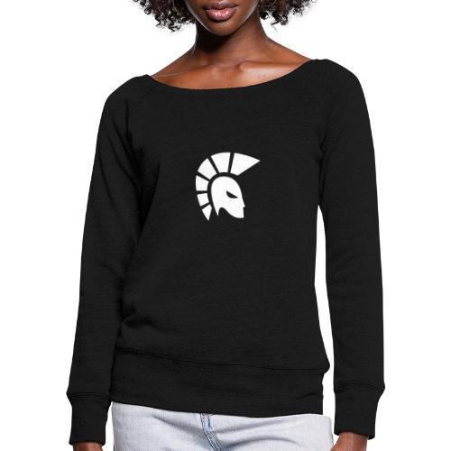 centurion racing icon White - Women's Boat Neck Long Sleeve Top