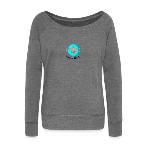 Spoon_Wolf_2-png - Women's Boat Neck Long Sleeve Top