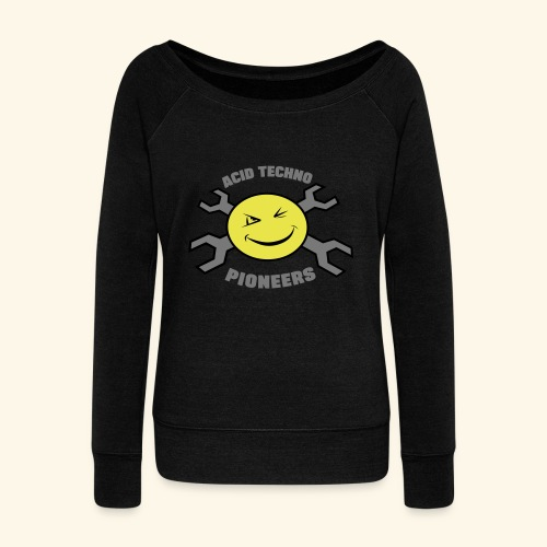 ACID TECHNO PIONEERS - SILVER EDITION - Women's Boat Neck Long Sleeve Top