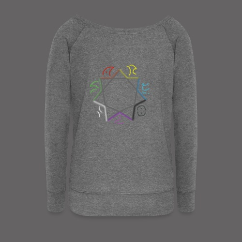 Areolis Logo Septagramm png - Women's Boat Neck Long Sleeve Top