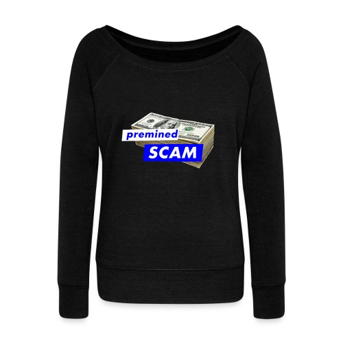 premined SCAM - Women's Boat Neck Long Sleeve Top