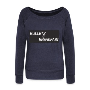 bulletz4breakfast_t-shirt - Women's Boat Neck Long Sleeve Top
