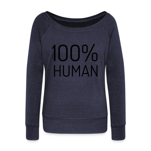 100% Human - Vrouwen trui met U-hals van Bella