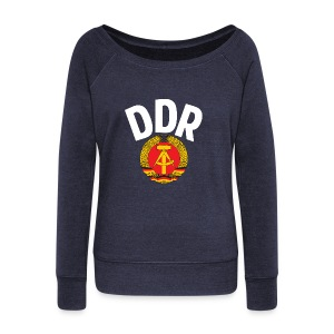 DDR - German Democratic Republic - Est Germany - Women's Boat Neck Long Sleeve Top