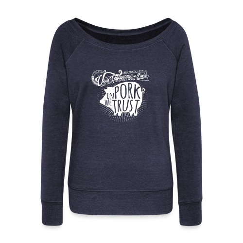 in pork we trust - Felpa con scollo a barca da donna, marca Bella