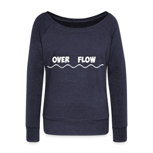 Over Flow - Women's Boat Neck Long Sleeve Top