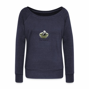 Man-in-pesto - Women's Boat Neck Long Sleeve Top