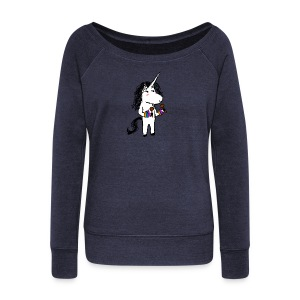 Unicorn Dancer - Women's Boat Neck Long Sleeve Top
