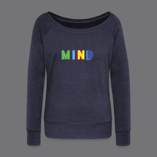 MIND Tee Shirts - Women's Boat Neck Long Sleeve Top