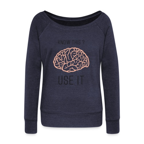 know this use it png - Pull Femme col bateau de Bella