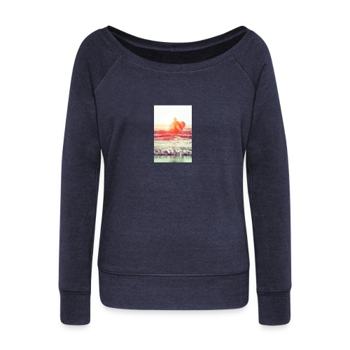 sunset surf jpg - Women's Boat Neck Long Sleeve Top
