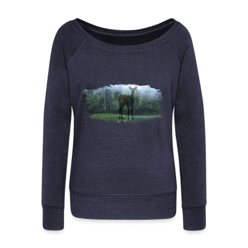 Nature in the City - Women's Boat Neck Long Sleeve Top