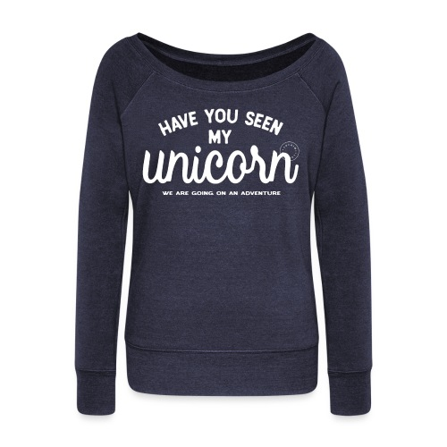 Unicorn dam - Women's Boat Neck Long Sleeve Top