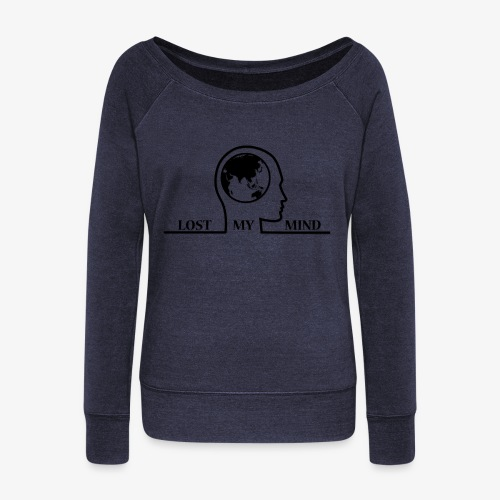 LOSTMYMIND - Women's Boat Neck Long Sleeve Top
