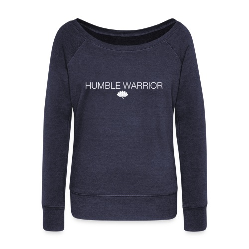 Humble Warrior white - Women's Boat Neck Long Sleeve Top