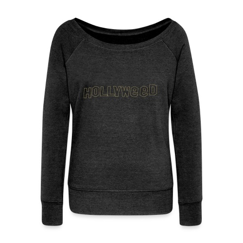 Hollyweed shirt - Pull Femme col bateau de Bella