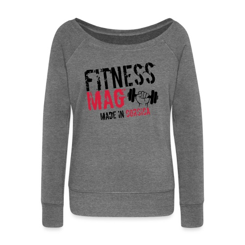 Fitness Mag made in corsica 100% Polyester - Pull Femme col bateau de Bella