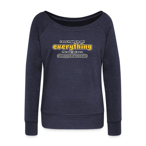Trying to get everything - got disappointments - Women's Boat Neck Long Sleeve Top