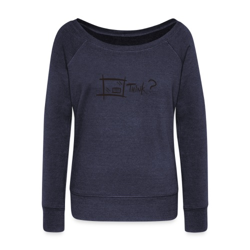 Think Outside The Box - Women's Boat Neck Long Sleeve Top