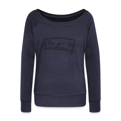 Pick Your Poison - Women's Boat Neck Long Sleeve Top