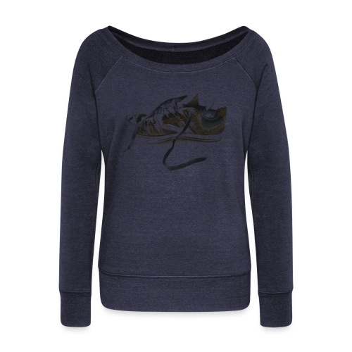 shoe (Saw) - Women's Boat Neck Long Sleeve Top
