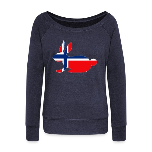 norwegian bunny - Women's Boat Neck Long Sleeve Top