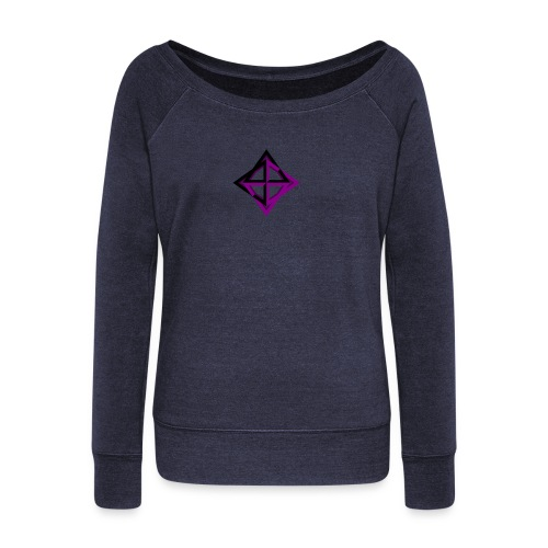 star octahedron - Women's Boat Neck Long Sleeve Top