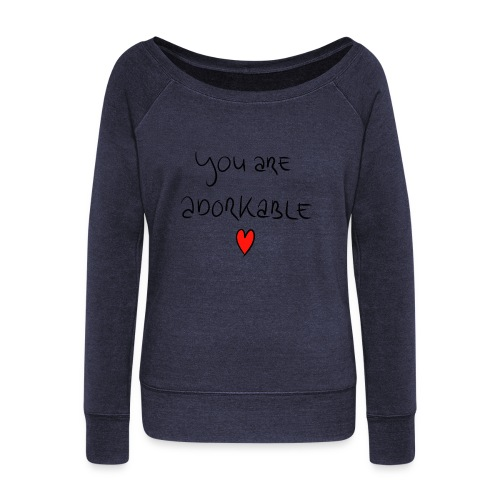 adorkable - Women's Boat Neck Long Sleeve Top