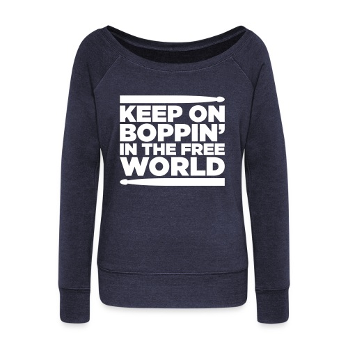 Keep on Boppin' - Women's Boat Neck Long Sleeve Top