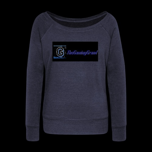 grand picture for black - Women's Boat Neck Long Sleeve Top
