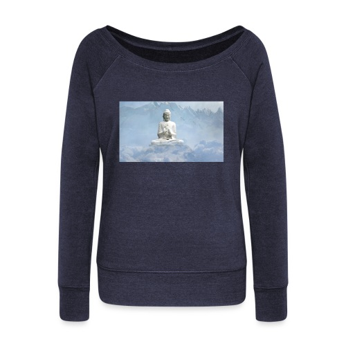 Buddha with the sky 3154857 - Women's Boat Neck Long Sleeve Top